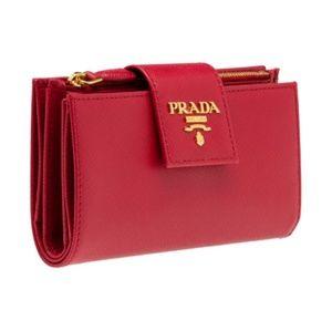 Authentic Prada Safiano leather wallet